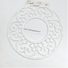 Рамка узорная круглая, белый матовый, Cristina Petrova