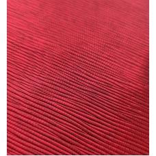Кожзам на тканевой основе красный с тиснением лоза 33х70 см