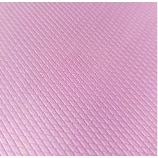 Переплетный кожзам розовый с тиснением ромбы  33х70 см
