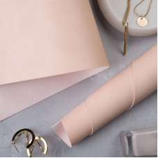 Переплетный кожзам матовый розовато-персиковый без тиснения 35х50 см