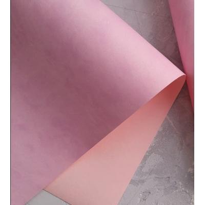 Переплетный кожзам матовый лилово-розовыйбез тиснения 35х50 см
