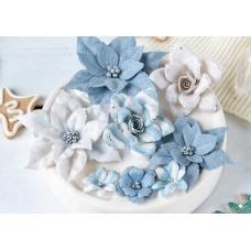 Набор цветов Pastel Flowers Сказочная зима - голубой