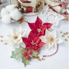 Набор цветов Pastel Flowers Сказочная зима - пуансеттии красные