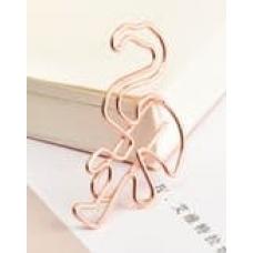 Скрепка в форме фламинго