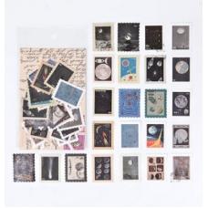 """Стикеры в форме марок """"Космическая одиссея"""""""