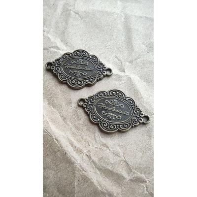"""Табличка декоративная, бронза, с надписью """"Handmade"""""""
