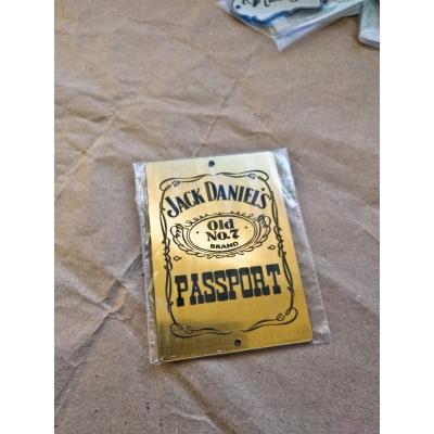 """Табличка """"Jack Daniel's"""" золотая, 6х8 см"""
