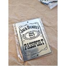"""Табличка """"Jack Daniel's"""" серебро, 6х8 см"""