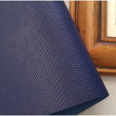 Переплетный кожзам темно-синий с тиснением под кожу питона 35х50 см