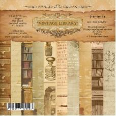 """Фоновый набор двусторонней бумаги """"Vintage Library"""" 20*20см"""
