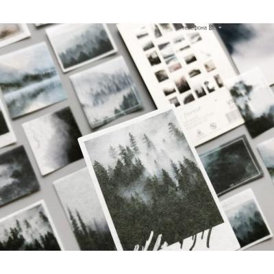 """Стикеры на рисовой бумаге """"Туманный лес"""""""