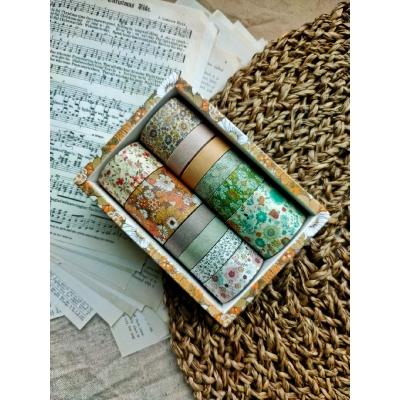 Набор декоративных скотчей, цвет - Карамельные цветы