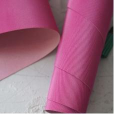 Переплетный кожзам тёмная фуксия с тиснением под джинсу 35х50 см