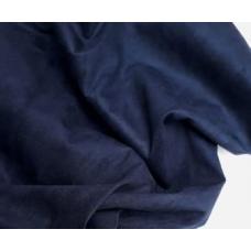 """Замша двухсторонняя синяя """"Беззвездная ночь"""", 25х70 см"""