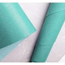 Переплетный кожзам бирюзово-зеленый с тиснением под мятую кожу 35х50 см